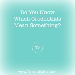 Do You Know Which Credentials Mean Something?
