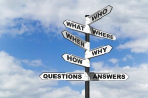 Image of Questions and Answers Signpost