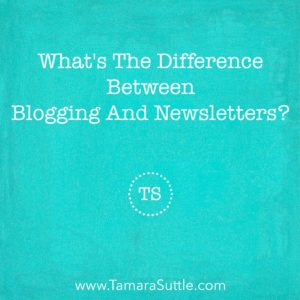 What's The Difference Between Blogging And Sending Newsletters?