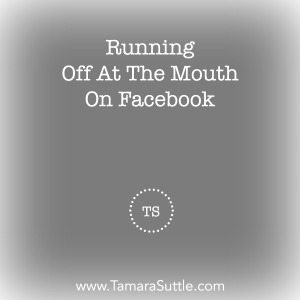 Running Off At The Mouth On Facebook