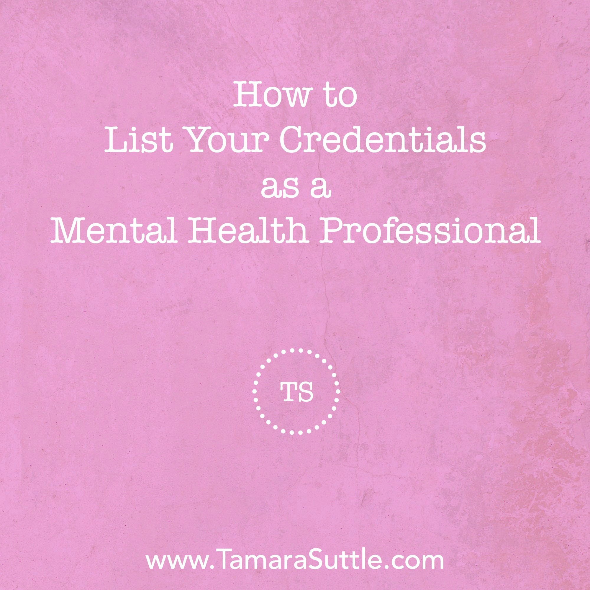 How to list your credentialsg reheart Images